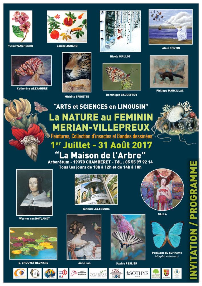 Affiche_Exposition_Peinture_2017_Merian_Villepreux_Chamberte